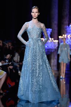 Elie Saab knows how to do glamour. The Best Looks From the Fall 2015 Couture Runways  - ELLE.com #ElieSaab