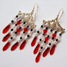 Drop Earrings, Christmas Ornaments, Halloween, Holiday Decor, Handmade, Jewelry, Jewels, Schmuck, Drop Earring