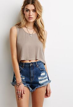 Boxy Cropped Top | Forever21 - 2000116567
