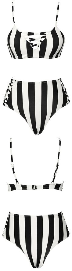 Before you jet off to that beach vacation, be sure to add the Cupshe Zebra Utopia Stripe Bikini Set to your cart! $21.99 Only with free shipping Now! This strappy bikini set features high waist design&triangle cup! Pick up more at Cupshe.com !