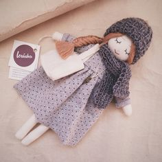 Hey, I found this really awesome Etsy listing at https://www.etsy.com/listing/269050340/dreaming-handmade-doll-gray36