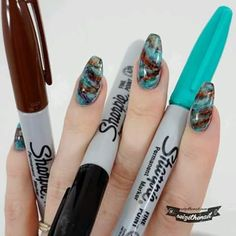 Decorated Nails With Sharpie