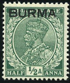 King George VI Burma 1937 King George, Postage Stamps, Colonial, Indie, Commonwealth, British, Federal, England, British People