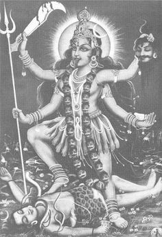 Kali again. I'm not a fan of Shiva being in the tattoo, but I def want her to have the 4 arms and all the appropriate items in her hands