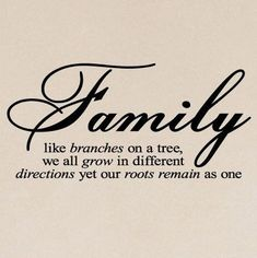 """""""Family like branches on a tree..."""""""