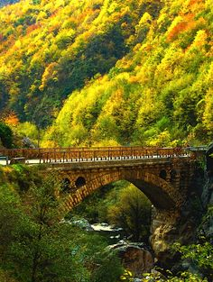 Autumn Bridge, Rugova Gorge, Kosovo   photo via labelle