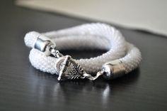 beading beaded bracelet sznur szydełkowo-koralikowy