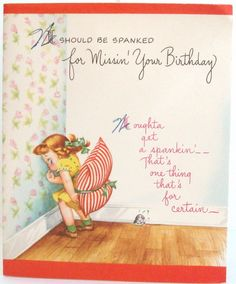 Sorry im late happy belated birthday greeting card bday pictures should be spanked for missing your birthday happy belated birthday card bookmarktalkfo Gallery