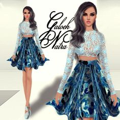 Baby Blue #Fashion #Sketch #Design #Recommendation #Batik #Lace #Style #Sexy