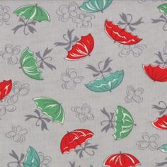 April Showers---Umbrellas in Gray---1 yard--Bonnie and Camille for Moda Fabrics on Etsy, $10.00