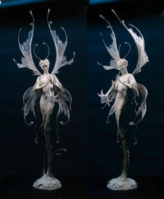 Exceptional work of Forest Rogers. Forest Rogers is an artist who has managed to trigger a multitude of simultaneous feelings when I look at any of her Yuki Onna, Arte Sketchbook, Art Sculpture, Arte Horror, Creature Design, Art Plastique, Fantasy Creatures, Faeries, Art Inspo