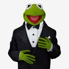 When this frog dresses, he dresses........He is stunning.