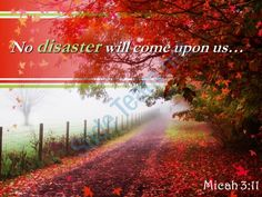 micah 3 11 no disaster will come upon us powerpoint church sermon Slide01 http://www.slideteam.net/