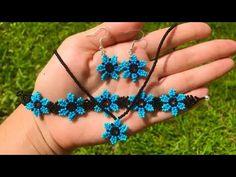 Bead Jewellery, Beaded Jewelry, Handmade Jewelry, Beaded Rings, Beaded Bracelets, Jewelry Crafts, Bead Crafts, Josi, Crochet Flower Tutorial