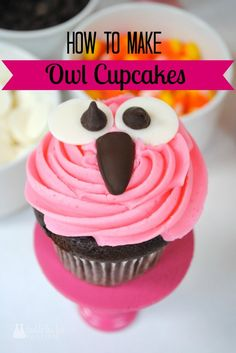 How to make owl cupcakes by Double the Fun Parties