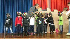 Presentación de los niños de preescolar durante el Acto Cívico de Afrocolombianidad.