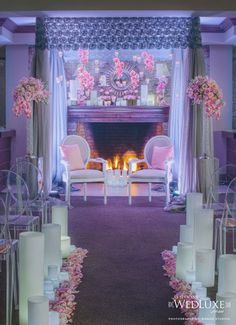 Acrylic Romantic fireplace lux