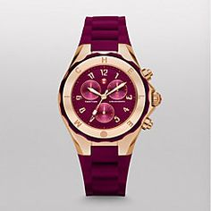 in love with this new color! Michele Tahitian Jelly Bean Merlot Rose Gold Watch