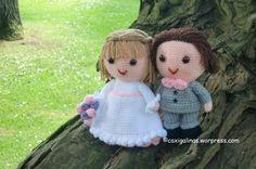 Bride and groom amigurumi  / Novios amigurumi Crochet pattern / Patrón de ganchillo