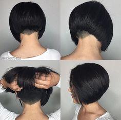 Lovely Classic Undercut Aline Bob Hair By @jamisonsayshello Thanks…