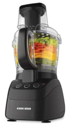 Black and Decker FP2500B PowerPro Wide-Mouth 10-Cup Food Processor, Black