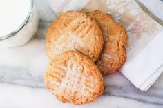 Peanut Butter Cookies are a simple combination of ingredients, yet are so very tasty and are so easy to make. Maybe it's because they are topped with sugar.