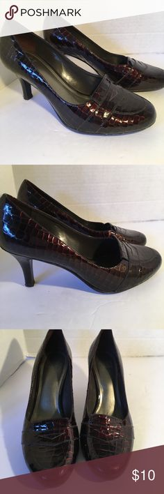 "Stunning Alex Marie High Heels Stunning burgundy brown patent leather shoes with rounded toes in excellent condition. Very little wear on soles. Beautiful shoes! 2"" heels. IF YOU PURCHASE MORE THEN 1 ITEM, YOU CAN ONLY BUNDLE UP TO 3 ITEMS PER ORDER. OR YOUR ORDER WILL BE CANCELED Alex Marie Shoes Heels"