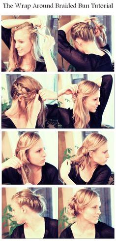 The Wrap Around Braided Bun Tutorial | hairstyles tutorial