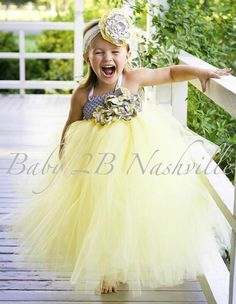 Flower Girl Dress Vintage Flower Girl  Tutu by Baby2BNashville, $121.00
