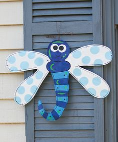 I think I could make this....This Dragonfly Door Hanger is perfect! #zulilyfinds