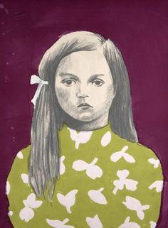 Girl 3, Green, Purple
