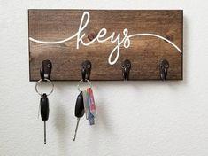 Hook Rack, Key Rack, Wall Hanger, Wall Hooks, Diy Keychain, Keychains, Wall Key Holder, Entryway Organization, Great Housewarming Gifts