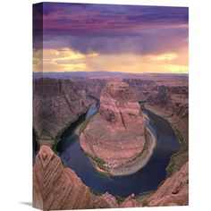Global Gallery Storm Clouds Over the Colorado River at Horseshoe Bend Near Page Arizona Wall Art - GCS-452158-1216-142