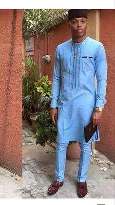 African men& clothing / african fashion / wedding suit / dashiki / african men& shirt / african clothing / shirt and pants / up and down African Dresses Men, African Clothing For Men, African Shirts, African Attire, African Wear, African Style, African Outfits, African Clothes, Nigerian Men Fashion