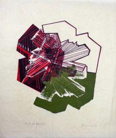 Maria Bonomi - Sempre Flor/anulação - xilogravura - 60 x 50 cm - 1974