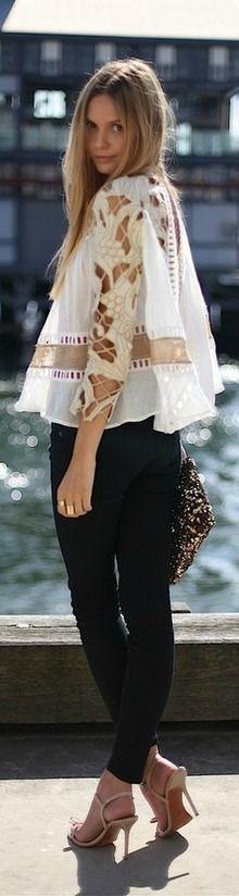 <3 lace blouse
