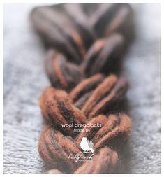 Wool Dreadlocks long dark brown by BullfinchHandmade on Etsy