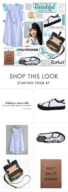 """""""ROMWE"""" by anastasia-ana ❤ liked on Polyvore featuring WALL, GALA, J.Crew, MiGOALS and romwe"""
