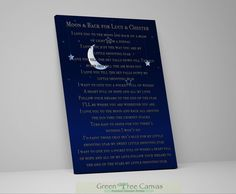 Excited to share the latest addition to my shop: Mother's Day gift for Grandma, Personalized Poetry Print, Gift from Grandma for Grandchild, Gift from Nana, I love you to the moon and back The Way You Are, Love You, Custom Canvas Prints, Parent Gifts, Grandma Gifts, Custom Art, Cotton Canvas, Canvas Wall Art, Te Amo