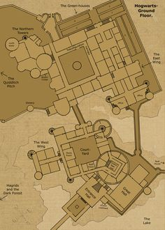 The Ground Floor Map of Hogwarts-Castle. Dungeon Level 1 Floor :See an animation of all the layers of Hogwarts: . This 10 layered map of hogwarts is based mostly. Ron Y Hermione, Ginny Weasley, Hermione Granger, Décoration Harry Potter, Harry Potter Universal, Garri Potter, Potter Facts, Slytherin, Castle Floor Plan