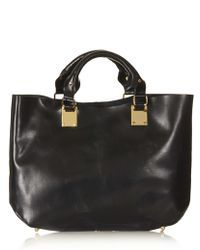 TOPSHOP | Plated Leather Tote | Lyst