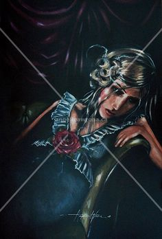 Stretched Canvas Print: Thoughts of Him by Angelina Wrona : Dark Fantasy, Fantasy Art, Fine Art Posters, Apple Art, Galerie D'art, Pop Surrealism, Marker Art, Stretched Canvas Prints, Light In The Dark