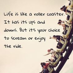 Rollercoaster of life. #rollercoaster #life #enjoy #workfromhomelifestylebusiness