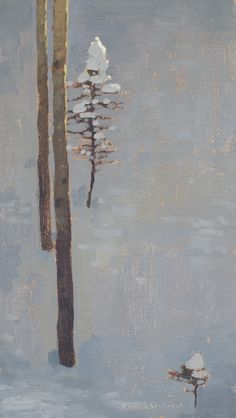 Our advent artwork today is the starkly beautiful 'Snow Caps', oil on linen over panel, 12 x x by David Grossmann Winter Season, New Art, Winter Wonderland, Eye Candy, It Works, Seasons, Landscape, Gallery, David