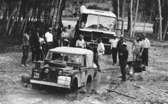Land Rover Series I stuck in the mud