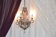 Rustic vintage chandelier