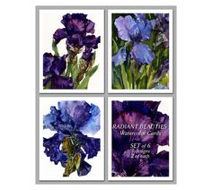 Mother's Day Gift  Set of 6 NOTE CARDS  Radiant by LindaHenryArt, $12.00