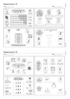 Près de 80 fiches d'exercices de phonologie réparties entre 34 phonèmes différents pour étudier les sons au CP.