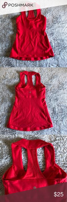 Lululemon scoop neck tank Awesome hot yoga tank. In gently used condition no rips, stains or pilling. lululemon athletica Tops