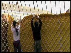 Yurt Construction Method 6 : Fitting the Insulation Felt